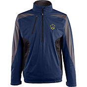 Antigua Men's Los Angeles Galaxy Navy Discover Full-Zip Jacket