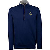 Antigua Men's Los Angeles Galaxy Leader Navy Quarter-Zip Jacket