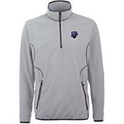 Antigua Men's Montreal Impact Ice Silver Quarter-Zip Fleece Jacket