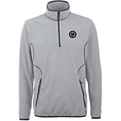 Antigua Men's Philadelphia Union Ice Silver Quarter-Zip Fleece Jacket