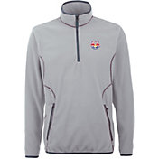 Antigua Men's New York Red Bulls Ice Silver Quarter-Zip Fleece Jacket