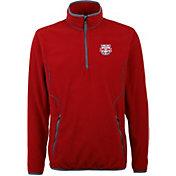 Antigua Men's New York Red Bulls Ice Red Quarter-Zip Fleece Jacket
