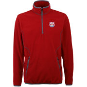 Antigua Men's New York Red Bulls Ice Red Quarter-Zip Fleece Jacket