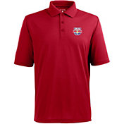 Antigua Men's New York Red Bulls Xtra-Lite Pique Performance Red Polo