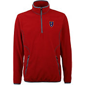 Antigua Men's Real Salt Lake Ice Red Quarter-Zip Fleece Jacket