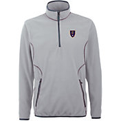 Antigua Men's Real Salt Lake Ice Silver Quarter-Zip Fleece Jacket