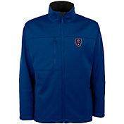 Antigua Men's Real Salt Lake Traverse Royal Soft-Shell Full-Zip Jacket