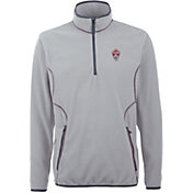 Antigua Men's Colorado Rapids Ice Silver Quarter-Zip Fleece Jacket