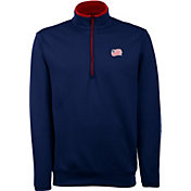 Antigua Men's New England Revolution Leader Navy Quarter-Zip Jacket
