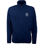Antigua Men's Sporting Kansas City Navy Ice Full-Zip Jacket