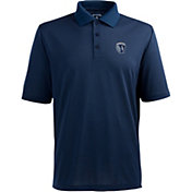 Antigua Men's Sporting Kansas City Xtra-Lite Pique Performance Navy Polo
