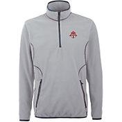 Antigua Men's Toronto FC Ice Silver Quarter-Zip Fleece Jacket