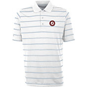 Antigua Men's Alabama Crimson Tide Deluxe Performance White Polo
