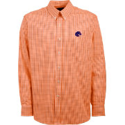 Antigua Men's Boise State Broncos Orange Monarch Woven Long Sleeve Shirt