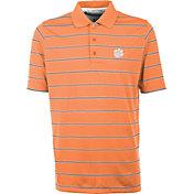 Antigua Men's Clemson Tigers Orange Deluxe Performance Polo