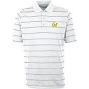 Antigua Men's Cal Golden Bears Deluxe Performance White Polo