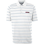 Antigua Men's UConn Huskies Deluxe Performance White Polo