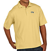 Antigua Men's Georgia Tech Yellow Jackets Gold Xtra-Lite Polo