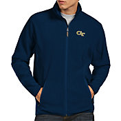 Antigua Men's Georgia Tech Yellow Jackets Navy Ice Full-Zip Jacket