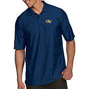 Antigua Men's Georgia Tech Yellow Jackets Navy Illusion Polo
