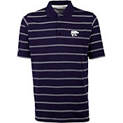 Antigua Men's Kansas State Wildcats Purple Deluxe Performance Polo