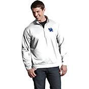 Antigua Men's Kentucky Wildcats White Long Sleeve Leader Pullover Shirt