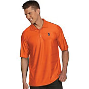 Antigua Men's Illinois Fighting Illini Orange Illusion Polo