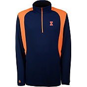 Antigua Men's Illinois Fighting Illini Blue Delta Quarter-Zip Pullover