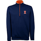 Antigua Men's Illinois Fighting Illini Blue Long Sleeve Leader Pullover Shirt