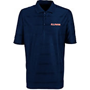 Antigua Men's Illinois Fighting Illini Blue Illusion Performance Polo