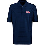 Antigua Men's Ole Miss Rebels Blue Illusion Performance Polo