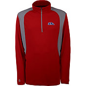 Antigua Men's Ole Miss Rebels Red Delta Quarter-Zip Pullover