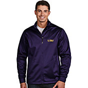 Antigua Men's LSU Tigers Purple Performance Golf Jacket