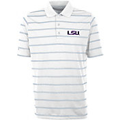 Antigua Men's LSU Tigers Deluxe Performance White Polo
