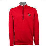 Antigua Men's Louisville Cardinals Cardinal Red Long Sleeve Leader Pullover Shirt