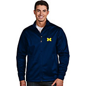 Antigua Men's Michigan Wolverines Blue Performance Golf Jacket