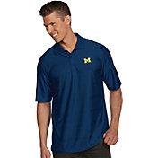 Antigua Men's Michigan Wolverines Blue Illusion Polo