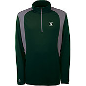 Antigua Men's Michigan State Spartans Green Delta Quarter-Zip Pullover