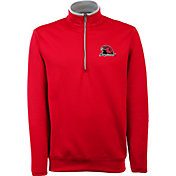 Antigua Men's Miami Redhawks Red Long Sleeve Leader Pullover Shirt