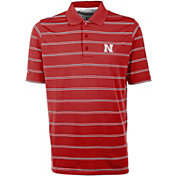 Antigua Men's Nebraska Cornhuskers Scarlet Deluxe Performance Polo