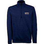 Antigua Men's Pitt Panthers Blue Long Sleeve Leader Pullover Shirt