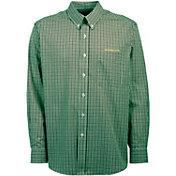 Antigua Men's Oregon Ducks Green Monarch Woven Long Sleeve Shirt