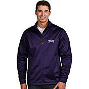 Antigua Men's TCU Horned Frogs Purple Performance Golf Jacket