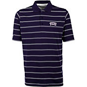 Antigua Men's TCU Horned Frogs Purple Deluxe Performance Polo
