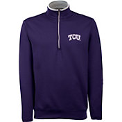 Antigua Men's TCU Horned Frogs Purple Long Sleeve Leader Pullover Shirt