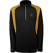 Antigua Men's Vanderbilt Commodores Delta Quarter-Zip Black Pullover