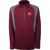 Antigua Men's Virginia Tech Hokies Maroon Delta Quarter-Zip Pullover