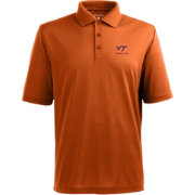 Antigua Men's Virginia Tech Hokies Burnt Orange Xtra-Lite Polo