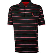 Antigua Men's Wisconsin Badgers Deluxe Performance Black Polo