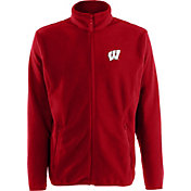 Antigua Men's Wisconsin Badgers Red Full-Zip Ice Jacket